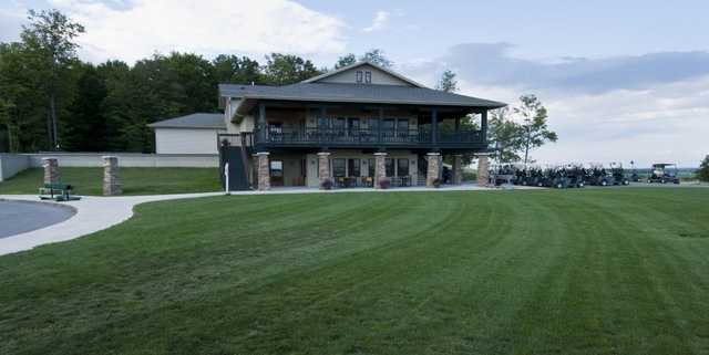 A view of the clubhouse at Mill Creek Golf Club