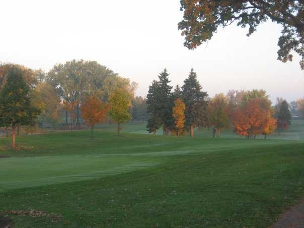A view of hole #9 at Greenhaven Golf Course