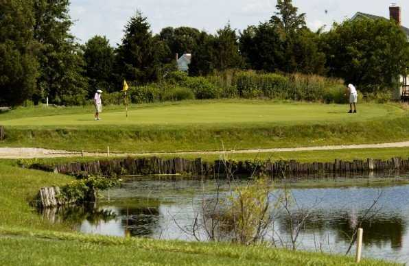 A view of green with water coming into play at Harbourtowne Resort Country Club