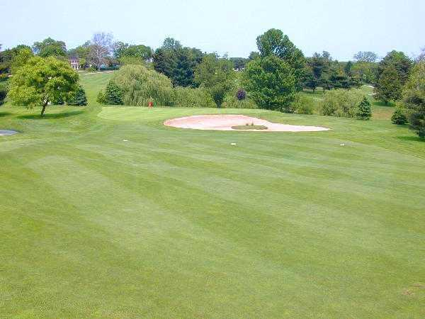 A view of the 17th green at Springfield Country Club