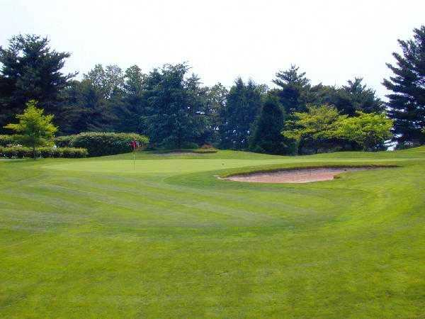 A view of hole #1 at Springfield Country Club