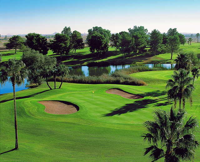 A view of the signature hole #3 at Francisco Grande Hotel & Golf Resort.