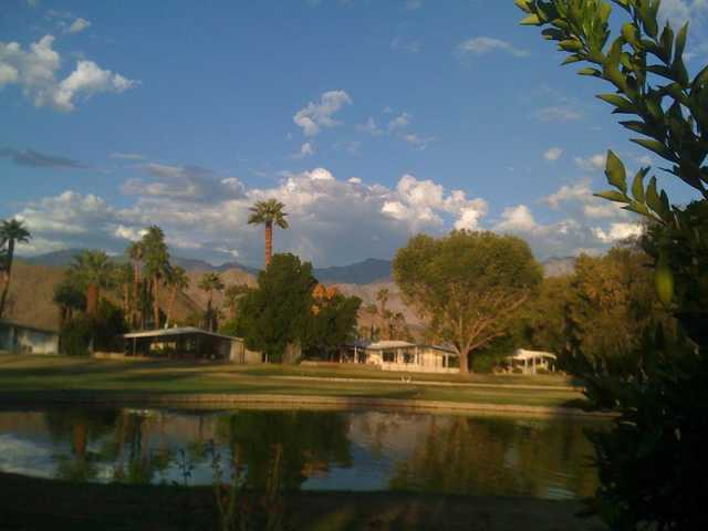 A view from the back of the clubhouse at Date Palm Country Club