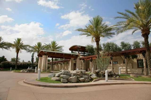 A view of the clubhouse at Ocotillo Golf Course