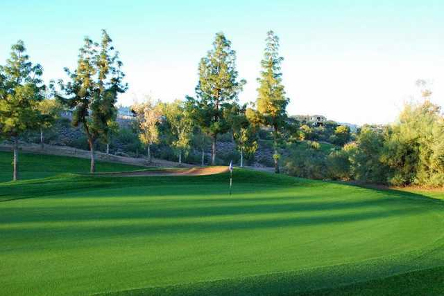 A view of the 2nd green at Desert Canyon Golf Club