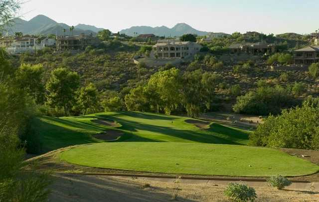 A view of the 16th hole at Desert Canyon Golf Club