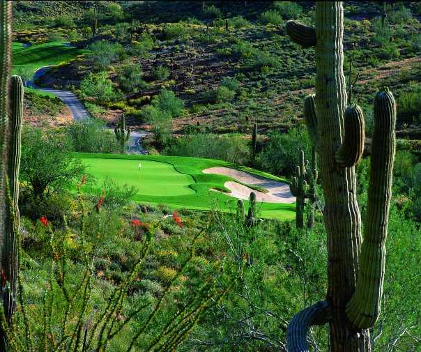 A view of the 15th hole at Eagle Mountain Golf Club
