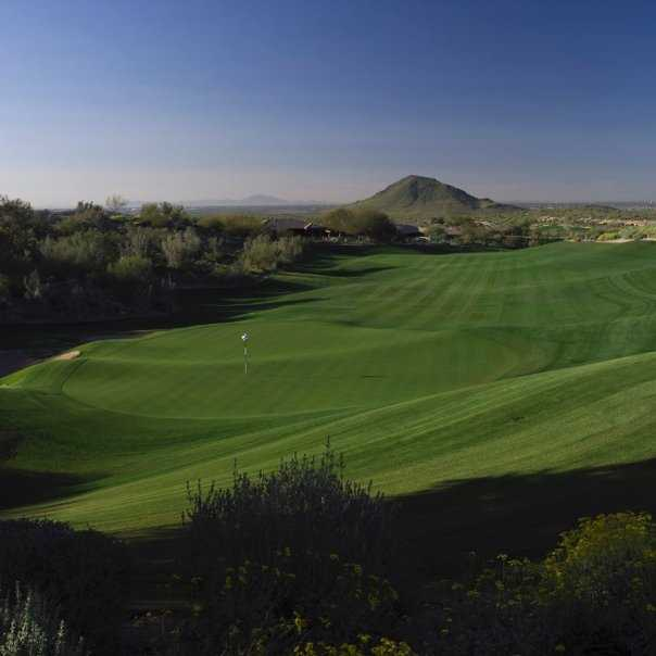 A view of hole #9 at Eagle Mountain Golf Club