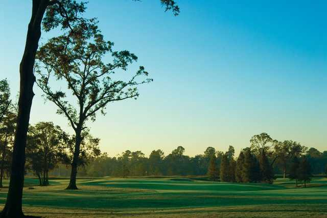 A view of the 1st fairway from the Member Course at Golf Club of Houston