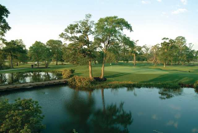 A view of the par-4 7th green from the Member Course at Golf Club of Houston