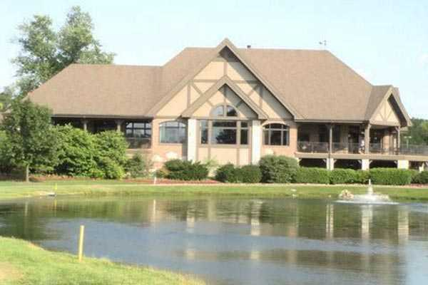 A view of the clubhouse at Bartlett Hills Golf Club