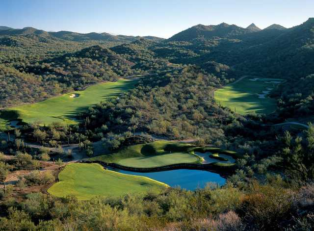 A view of hole #18, #17 and #9 at Quintero Golf & Country Club.