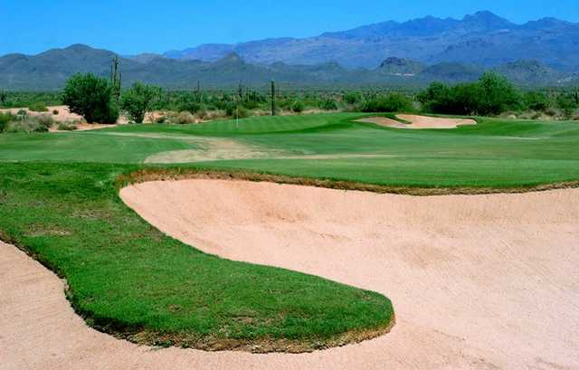 A view of hole #1 at Verde River Golf & Social Club