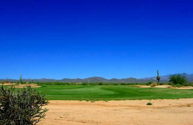 A view of the 2nd green at Verde River Golf & Social Club