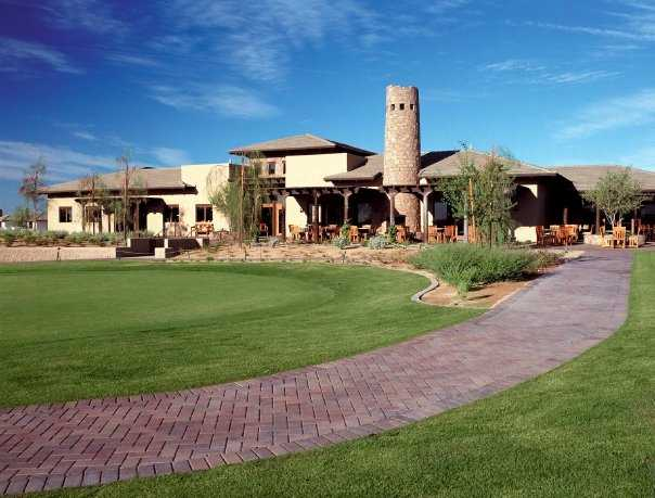 A view of the clubhouse at Kierland Golf Club