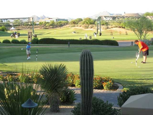 A view of the practice green at Kierland Golf Club