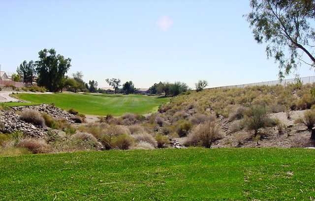 A view of hole #8 at Coyote Lakes Golf Club.