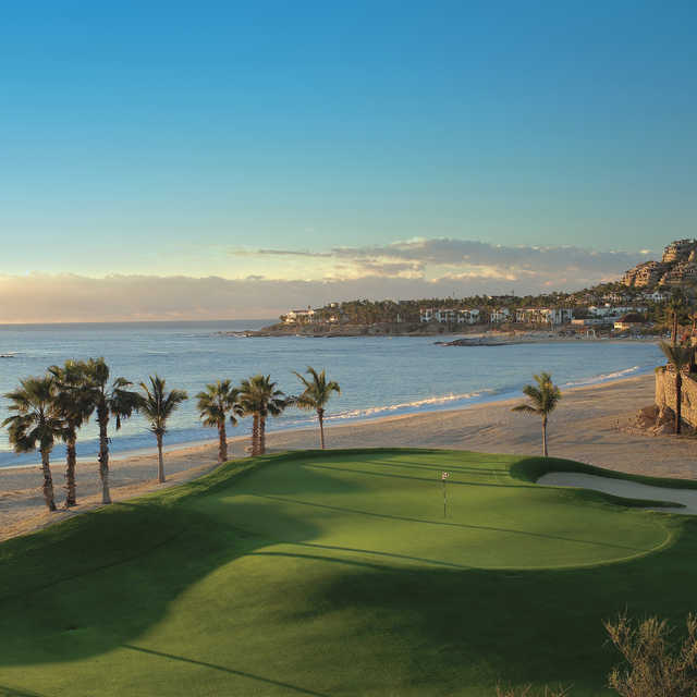 A view of green #3 at Ocean Golf Course from One&Only Palmilla Golf Club