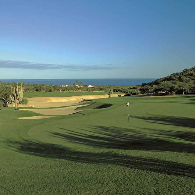 A view of the 1st hole at Mountain Golf Course from One&Only Palmilla Golf Club.