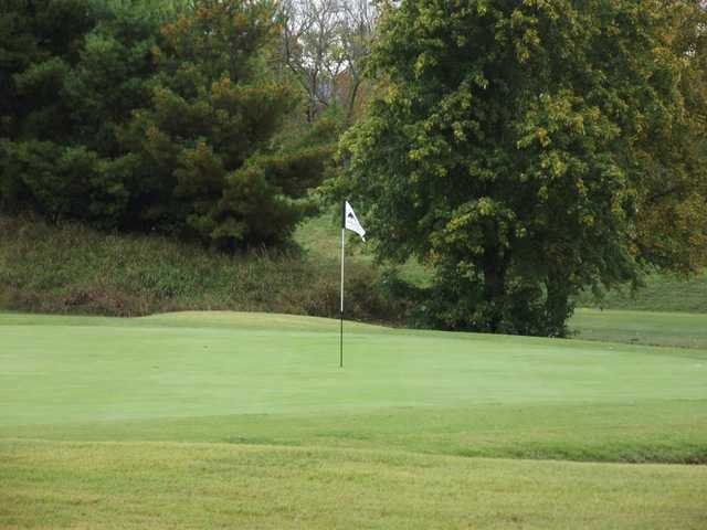 A view of green #18 at Indian Hills Golf Club