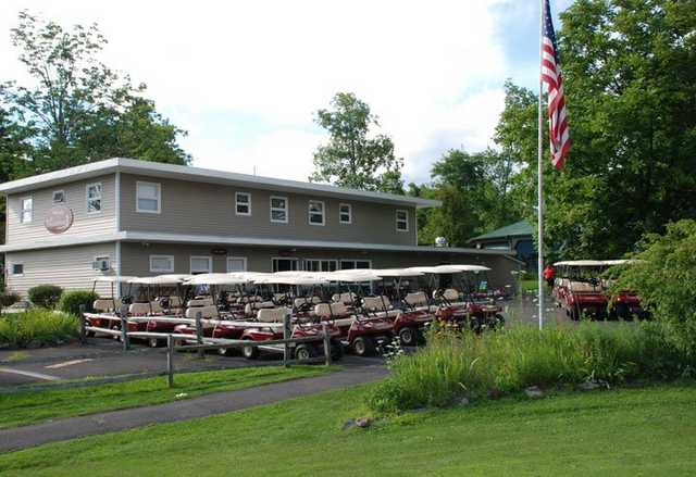A view of the clubhouse at Thunderhart Golf Course