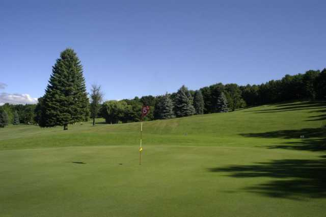 A view of hole #5 at Thunderhart Golf Course