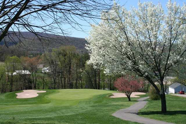 A spring view of green at Sugarloaf Golf Club