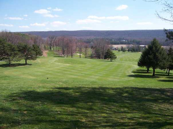 A view across the 11th and 12th fairway from green #11 at Sugarloaf Golf Club
