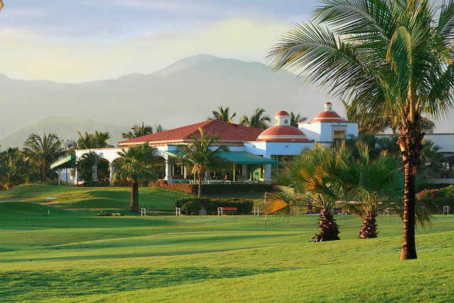 A view of the driving range at El Tigre Club de Golf