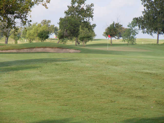 A view of the 1st green at Stonetree Golf Club