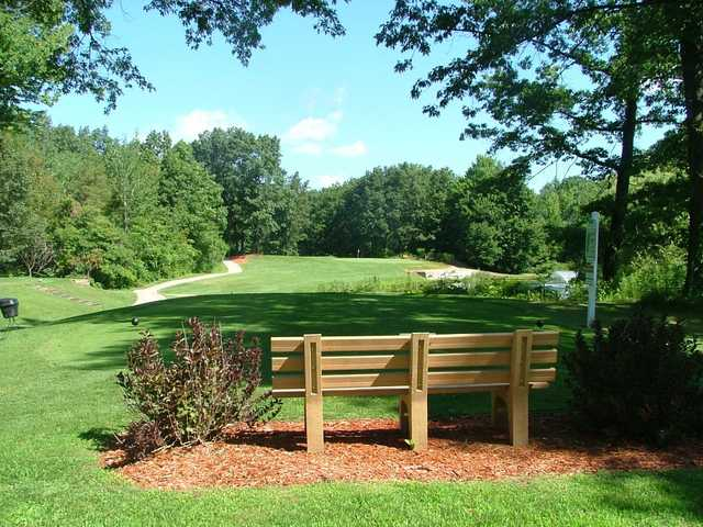 A view of a hole and fairway at Lincoln Golf Club