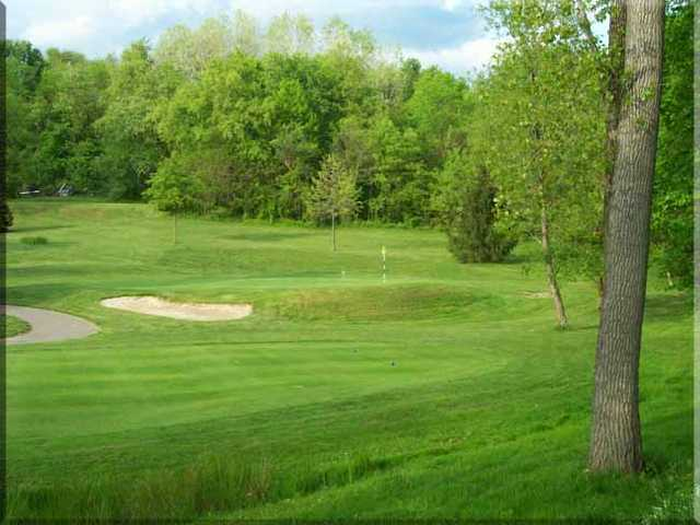 A view of the 6th green at Zanesville Jaycee's Golf Course