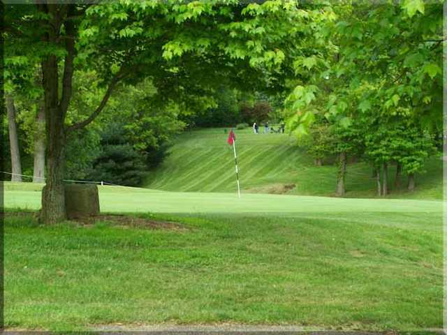 A view of green #17 at Zanesville Jaycee's Golf Course