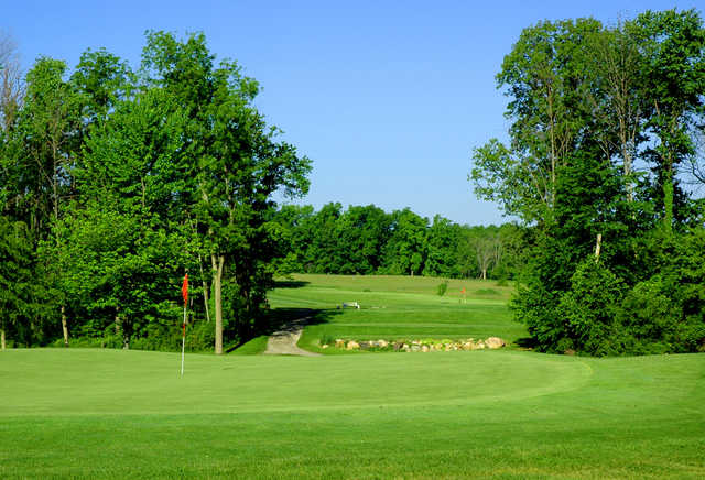 A view of hole #17 at Rustic Glen Golf Course