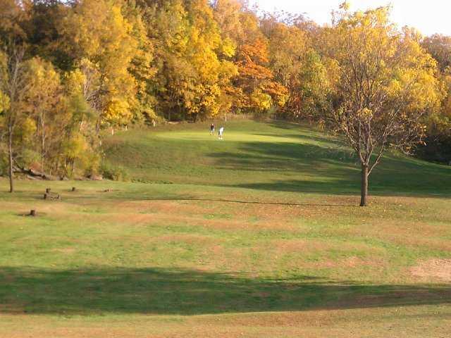 A view of green #15 at Little Bighorn Golf Club