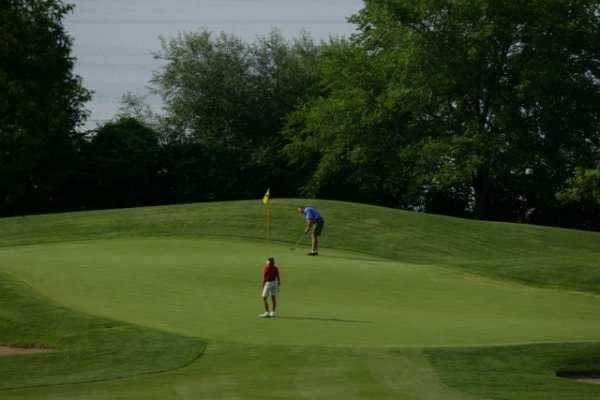A view of a green from Majestic Oaks at Lake Lawn Resort