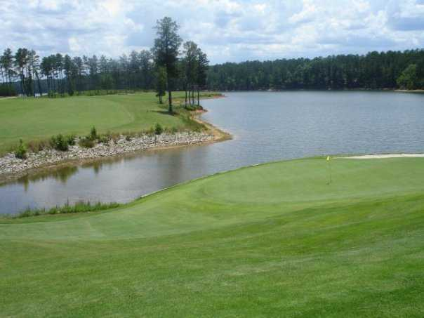A view of the par-4 5th green from Monticello Golf Club at Savannah Lakes