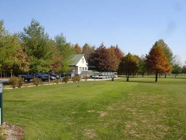 A view of the clubhouse at Cypress Run Golf Course