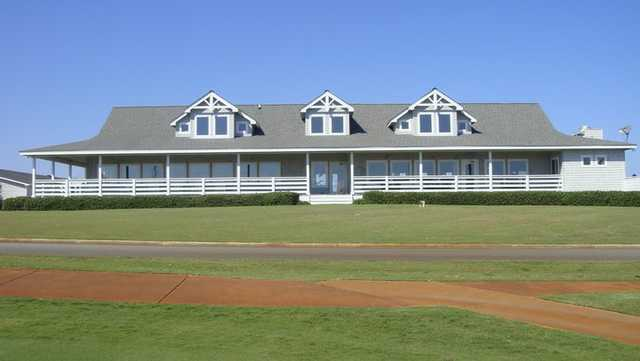 A view of the clubhouse at Sea Scape Golf Links