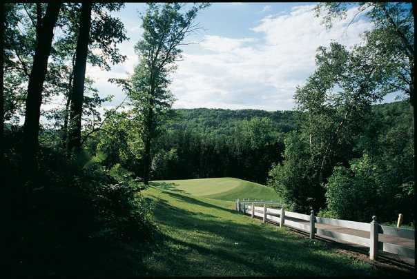 A view of the 17th hole at Highlands Course from Mississippi National Golf Links