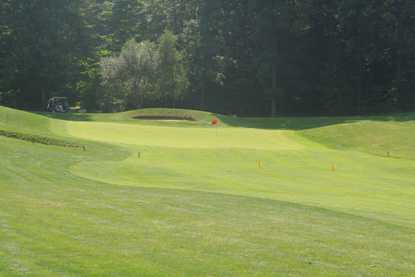 A view of the 11th green at Calderone Golf Club