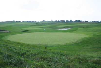 A view of green #18 at Calderone Golf Club