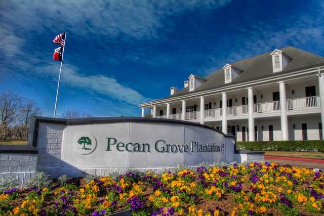 A view of the clubhouse at Pecan Grove Plantation Country Club