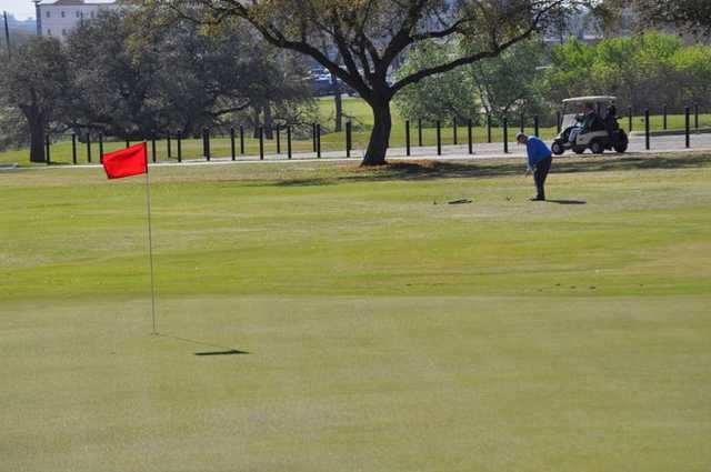 A view of a green at Fort Sam Houston Golf Course