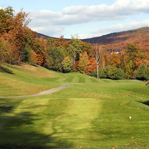 A view of the 14th hole at Mountain Greens Course from Massanutten Resort