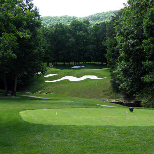 A view from tee #8 at Mountain Greens Course from Massanutten Resort