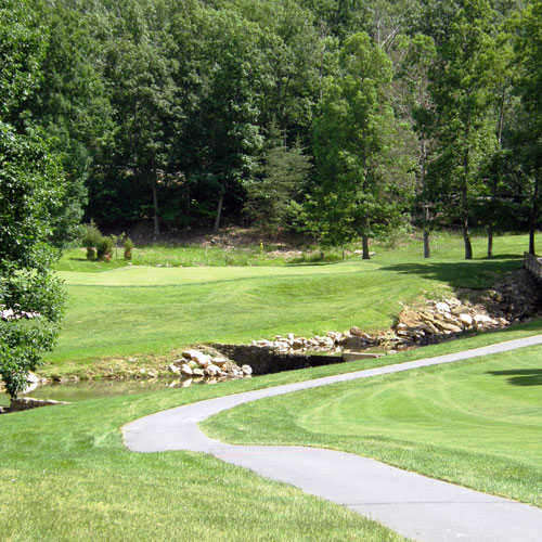 A view of green #7 at Mountain Greens Course from Massanutten Resort