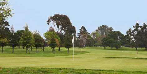 A view of a green at Salinas Fairways Golf Course