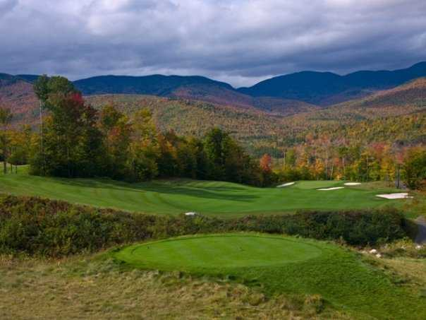 A view from the 12th tee at Sunday River Golf Club