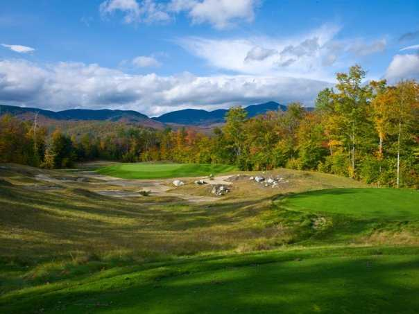 A view of green #14 at Sunday River Golf Club